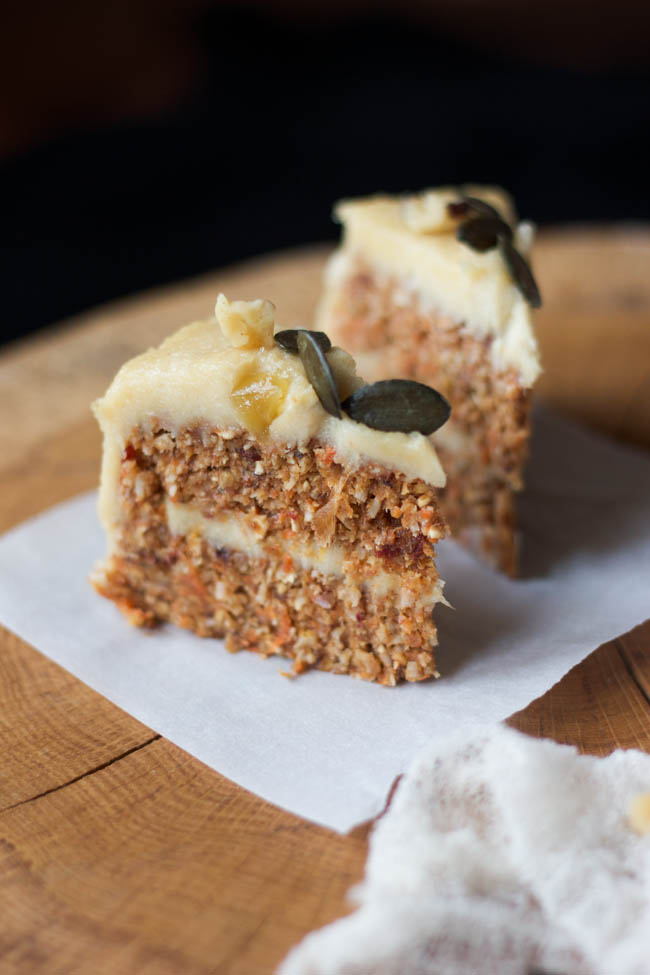 raw carrot cake carrot cake with cashew lemon wholehearted eats 6963