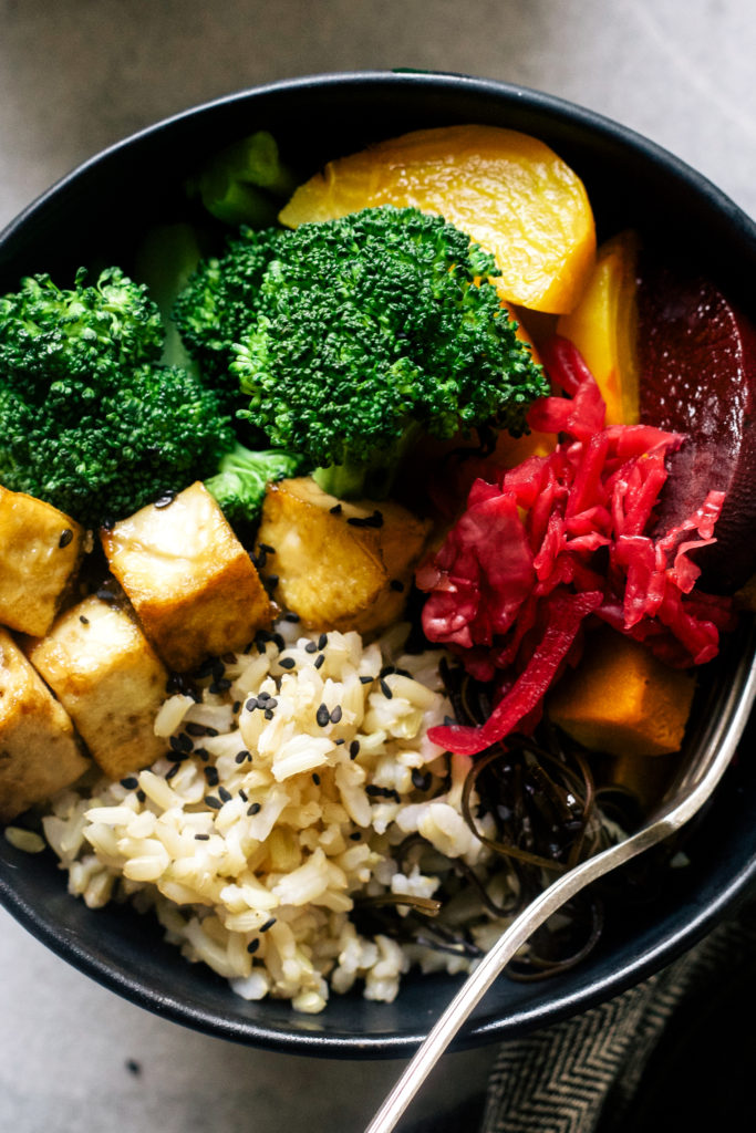 Macro Bowl with Tahini Miso Sauce | Wholehearted Eats