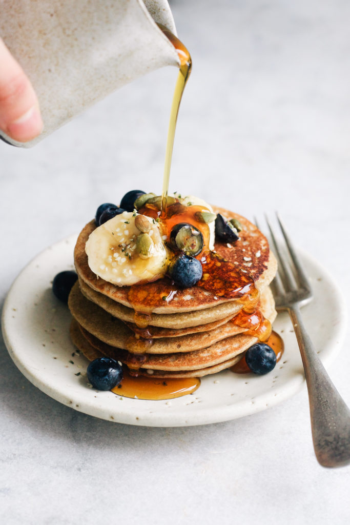 BLENDER BUCKWHEAT BANANA PANCAKES-7