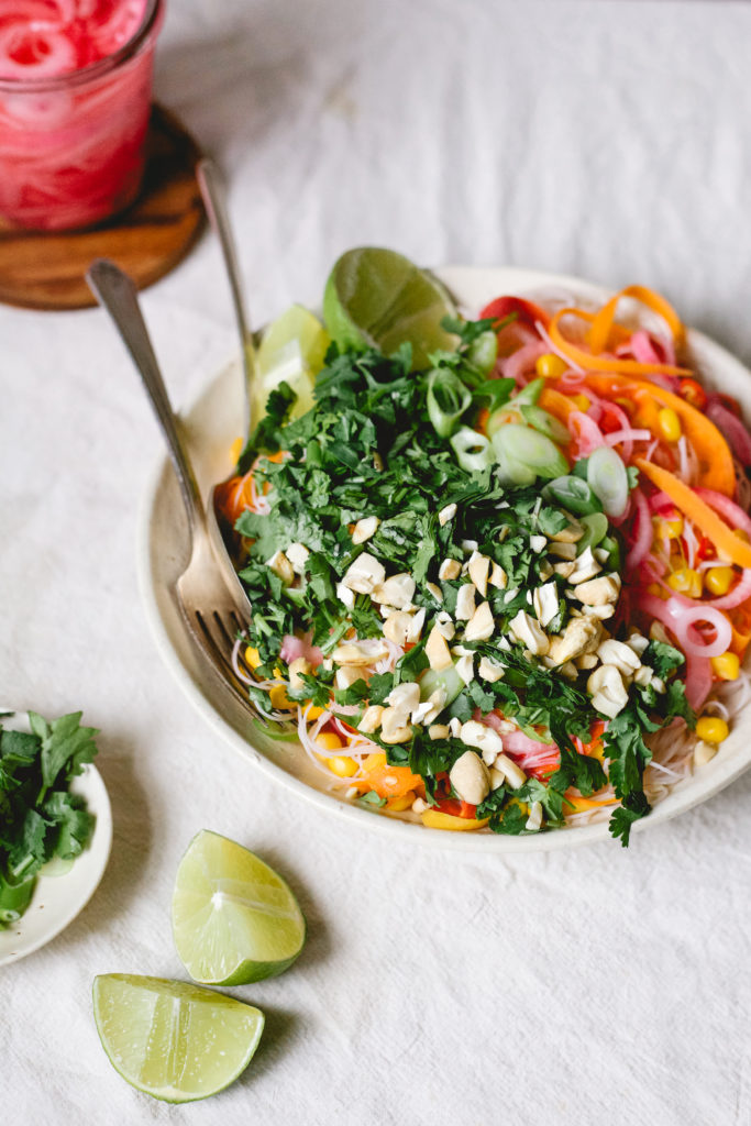 ZINGY CARROT + RICE NOODLE SALAD (FROM THE SAVVY COOK)
