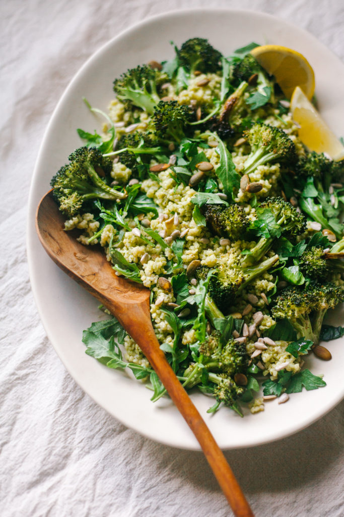 BASIL-LEMON SCENTED MILLET + ROASTED BROCCOLI 14