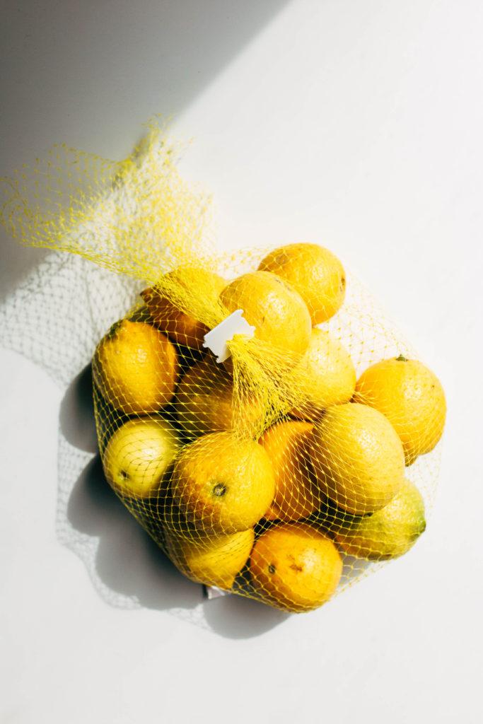 lemons in a mesh bag