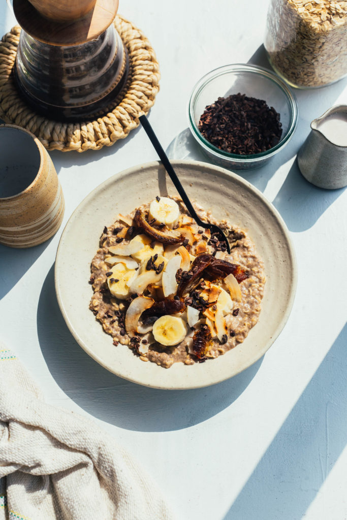 My favourite bircher recipes with green banana flour for a good dose of resistant starch