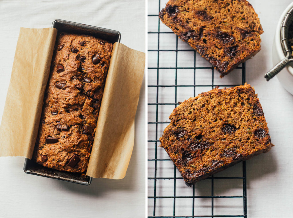 vegan chocolate zucchini loaf.