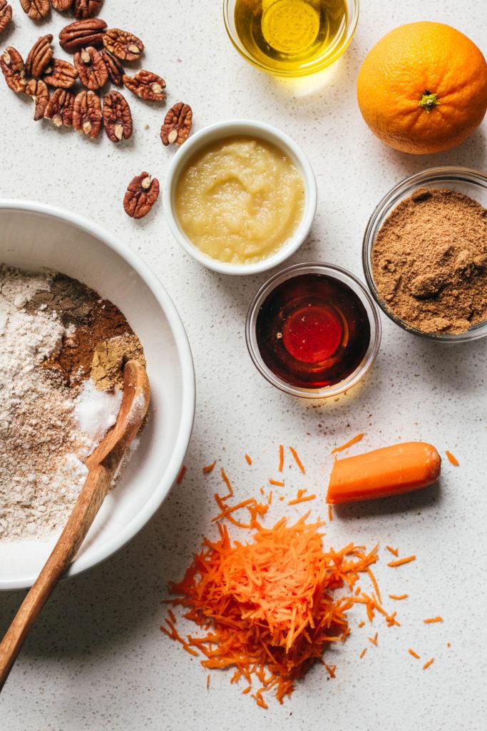 Vegan Carrot Cake with Cardamon and Orange
