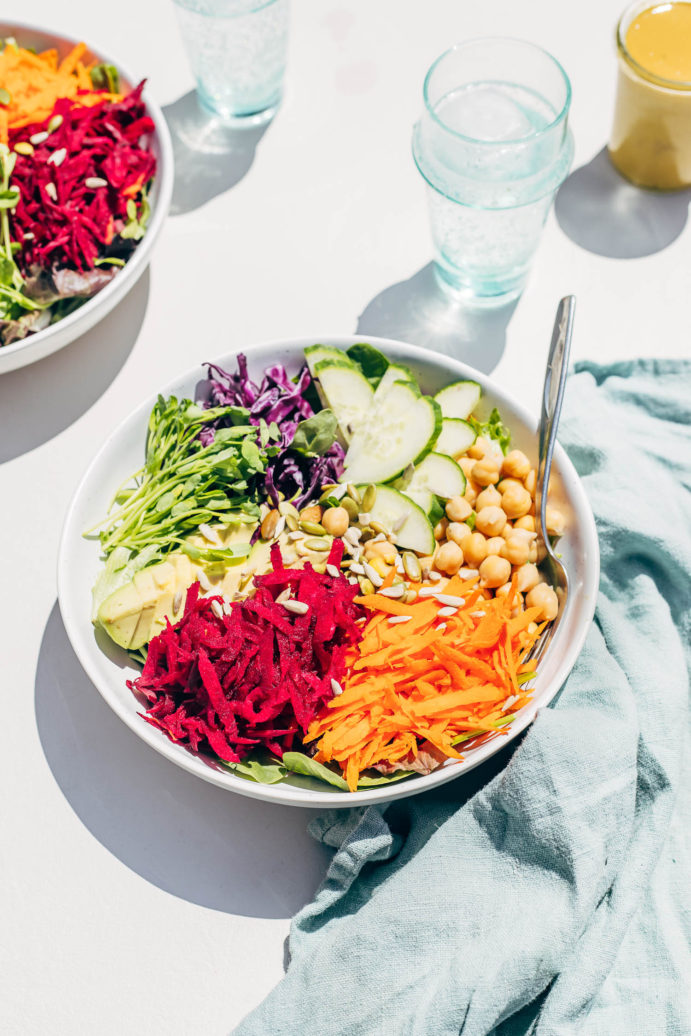 Rainbow Salad with Nutritional Yeast Dressing
