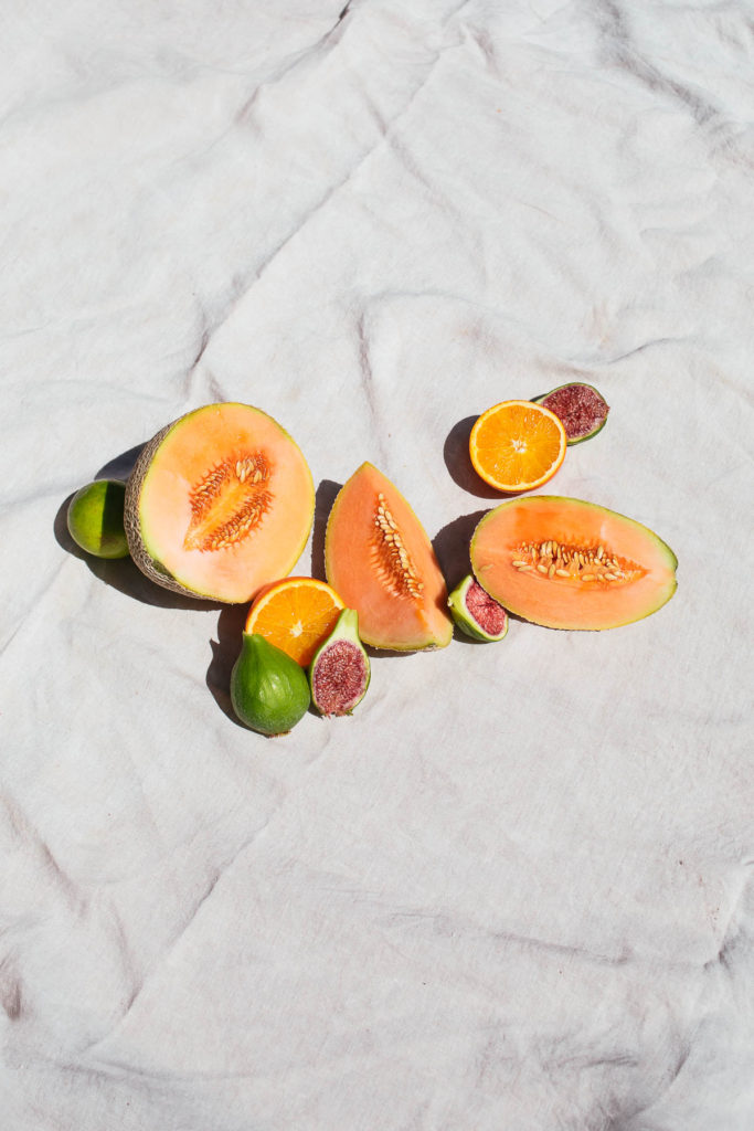 Image of summer fruit on a white backdrop